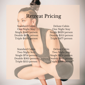 Retreat Pricing
