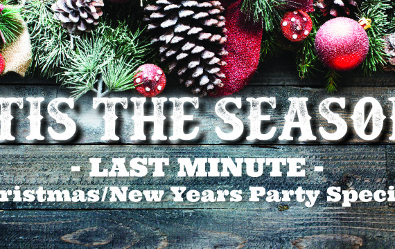 Hey you, was is it you that forgot to plan your Christmas party? Or put it off and your thinking you can't get away with out? We have a Christmas special for you!